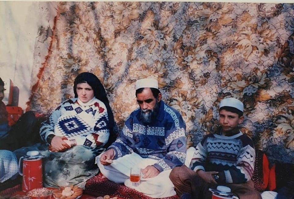 Waheed Arian is pictured with his parents in Kabul when he was a child. (Waheed Arian/PA)