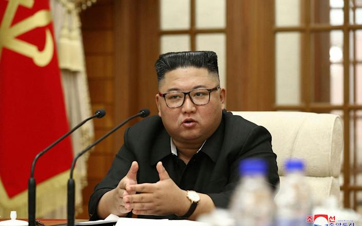 In this photo provided Wednesday, Sept. 30, 2020, by the North Korean government, North Korean leader Kim Jong Un attends the 18th meeting of Political Bureau of 7th Central Committee of the Workers' Party of Korea in Pyongyang, Tuesday, Sept. 29, 2020 - KCNA via KNS