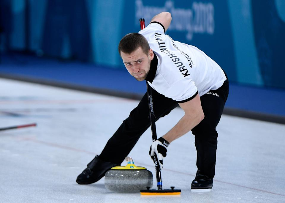 Russian curler Alexander Krushelnitsky was officially stripped of his bronze medal.