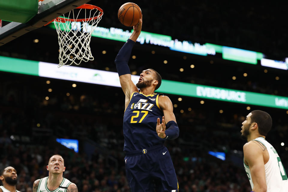 Utah Jazz star Rudy Gobert can become an unrestricted free agent in 2021. (Omar Rawlings/Getty Images)