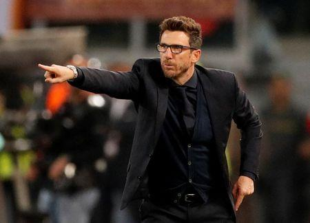 Soccer Football - Champions League Semi Final Second Leg - AS Roma v Liverpool - Stadio Olimpico, Rome, Italy - May 2, 2018 Roma coach Eusebio Di Francesco Action Images via Reuters/John Sibley