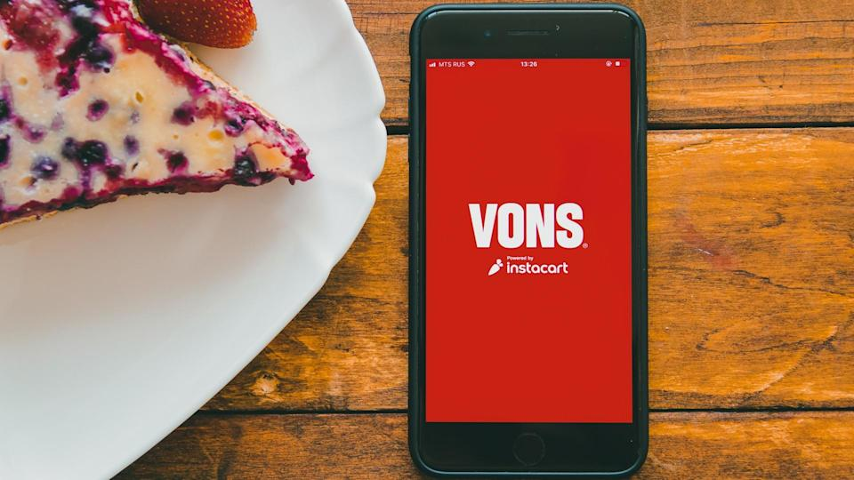 Vons grocery delivery smartphone app