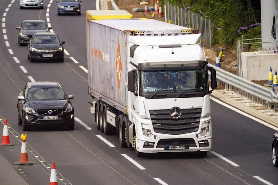 Household cleaning products firm McBride has been affected by lorry driver shortage and supply chain issues (Steve Parsons/PA) (PA Wire)