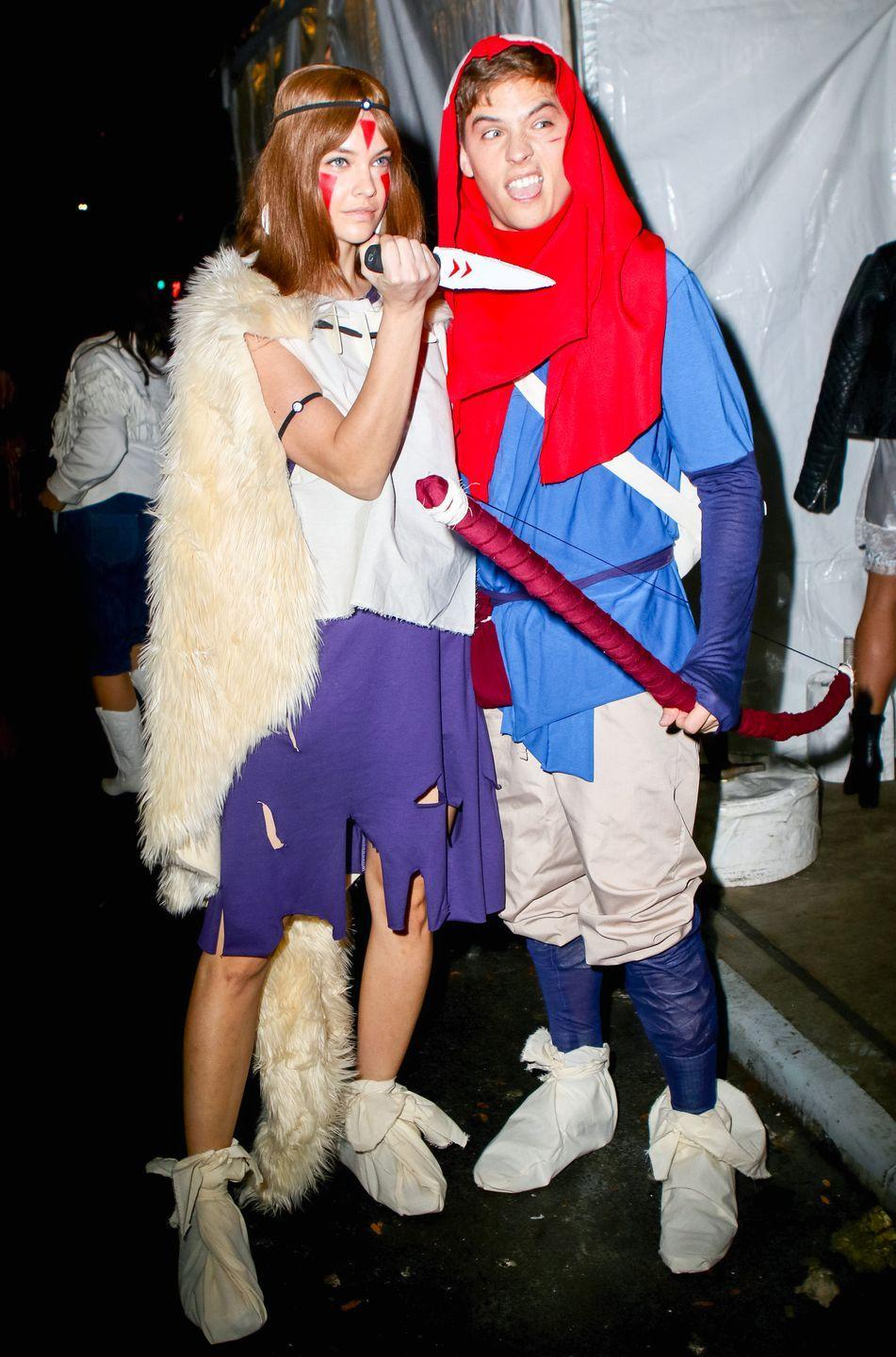 <p>Barbara Palvin and Dylan Sprouse evoked a Studio Ghibli favorite for their 2019 costumes. The couple dressed as Ashitaka and San from Princess Mononoke and even got into character while posing for photos.</p>