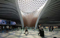 Beijing Daxing International Airport. (Photo by Zhang Peng/LightRocket via Getty Images)