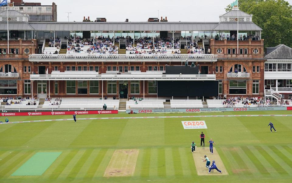 The Lord's pavilion during Sunday's scheduled double-header.