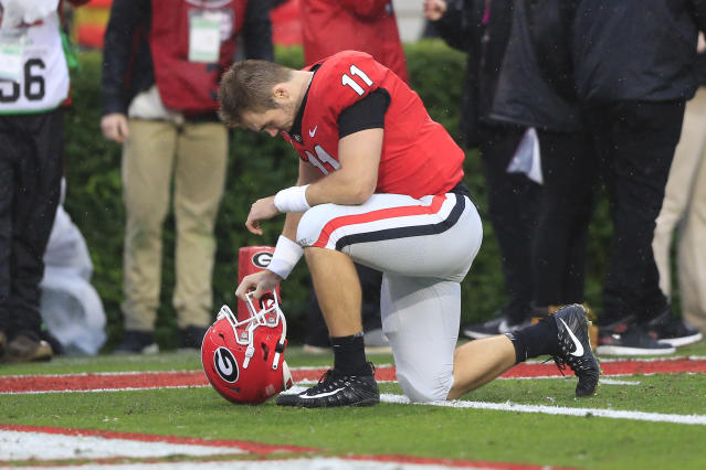 After a few challenging games, Georgia QB Jake Fromm could use a big game vs. Florida. (Getty Images)