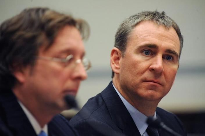 Billionaire Kenneth Griffin, pictured in 2008, positioned his hedge fund to benefit from the coronavirus outbreak, unlike in the 2008 financial crisis (AFP Photo/TIM SLOAN)