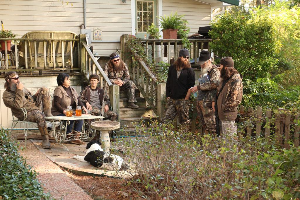 "The Robertson Family in the ""Duck Dynasty"" Season 3 episode, ""Shot Through the Heart."""