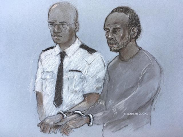 Court artist sketch of Muhammad Rodwan, 56, appearing at Thames Magistrates' Court charged with the attempted murder (PA)