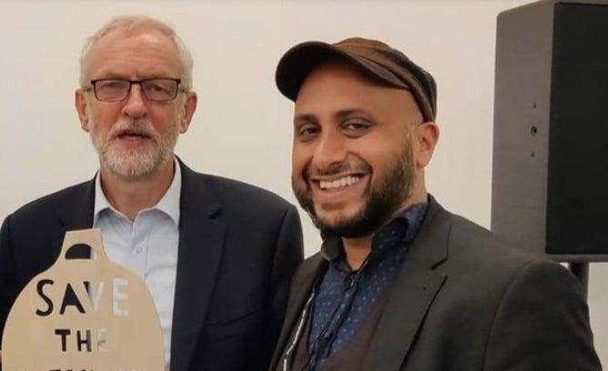 <p>Puru Miah pictured with former Labour leader Jeremy Corbyn</p> (handout)