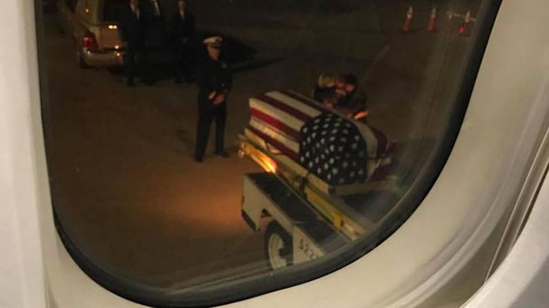 The image that left a plane heartbroken and seemingly reflective. Source: Facebook