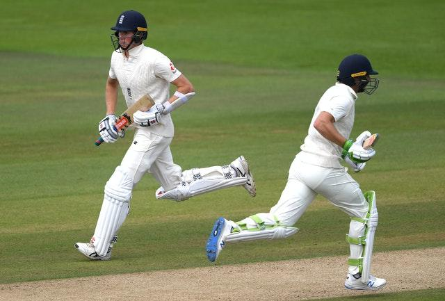 Zak Crawley (left) and Jos Buttler made history at the Ageas Bowl