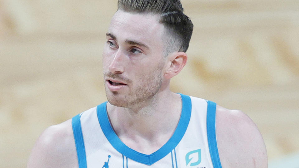 Charlotte's Gordon Hayward is set to miss at least four weeks with an ankle injury - meaning he will likely return during fantasy playoffs. (Photo by Sarah Stier/Getty Images)