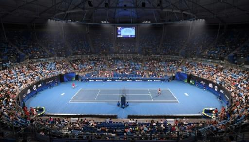 Haze could be seen in the arena for the ATP Cup tennis tournament in Sydney earlier this week