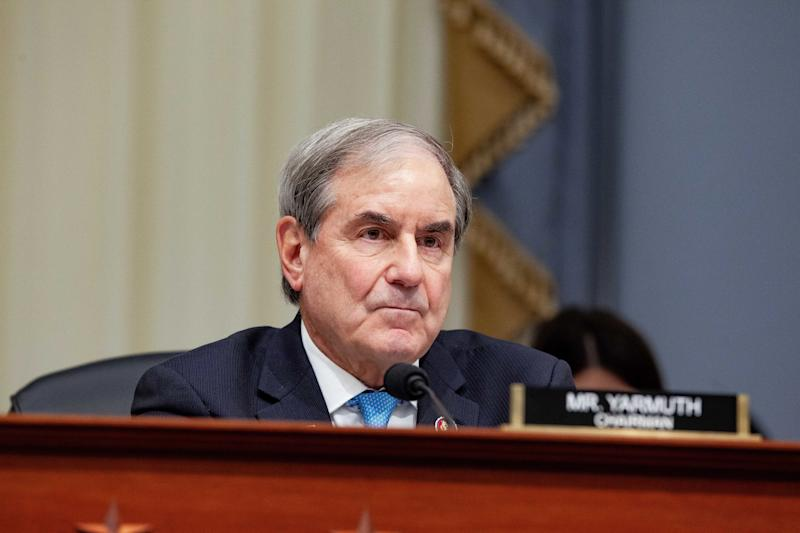 Rep. John Yarmuth (D-Ky.), chair of the House Budget Committee, listens during a Tuesday hearing with the acting director of the Office of Management and Budget. (Photo: Anna Moneymaker/Bloomberg via Getty Images)