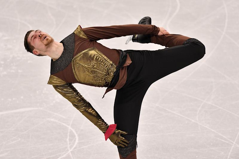 """Germany's Paul Fentz performed to music from """"Game of Thrones"""" for his free skating routine."""