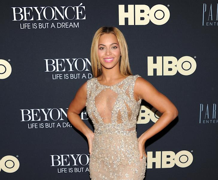 "FILE - In this Feb. 12, 2013 photo, Beyonce Knowles attends the premiere of ""Beyonce: Life Is But A Dream"" at the Ziegfeld Theatre, in New York. Knowles is among 11 celebrities and government officials whose private financial information appears to have been posted online by a site that began garnering attention on Monday, March 11, 2013. (Photo by Evan Agostini/Invision/AP, File)"