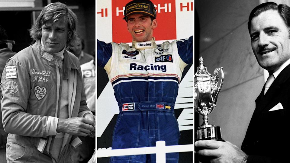 James Hunt, Damon Hill and Graham Hill are among the British F1 world champions