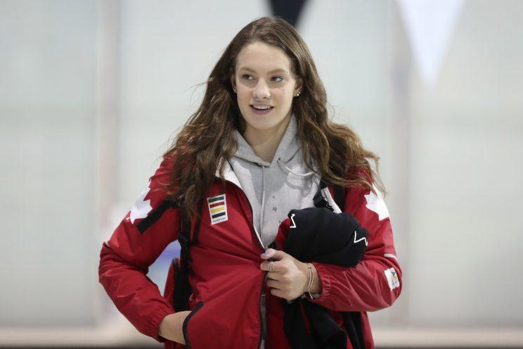 Rock the Canada Roots gear like Penny Oleksiak. (Getty Images)