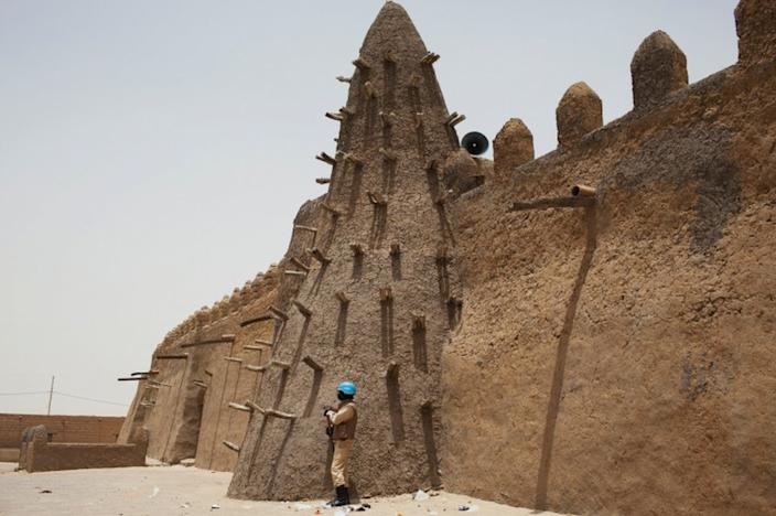 Tombs at the Djingareyber mosque in Timbuktu were smashed by Islamist militants in 2012
