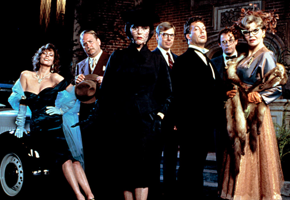 The cast of 'Clue' includes Lesley Ann Warren, Martin Mull, Madeline Kahn, Michael McKean, Tim Curry, Christopher Lloyd and Eileen Brennan (Photo: Paramount/Courtesy Everett Collection)