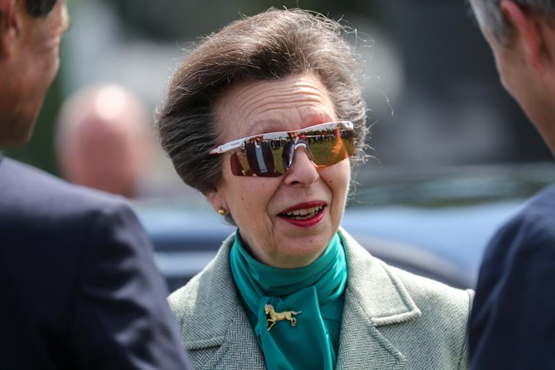 WINDSOR, ENGLAND - MAY 10: Princess Anne, Princess Royal enjoys the sun at the Royal Windsor Horse Show 2019 on May 08, 2019 in Windsor, England. (Photo by Chris Jackson/Getty Images)
