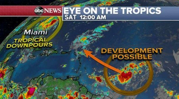 PHOTO: Tropical development is possible later in the week for a storm still out in the Atlantic. (ABC News)