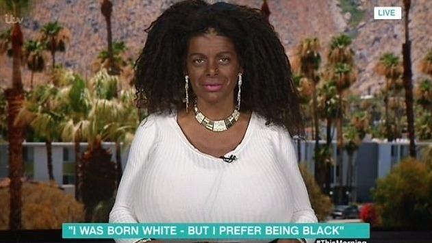 Martina has already dyed her skin and added curly hair extensions. Photo: ITV