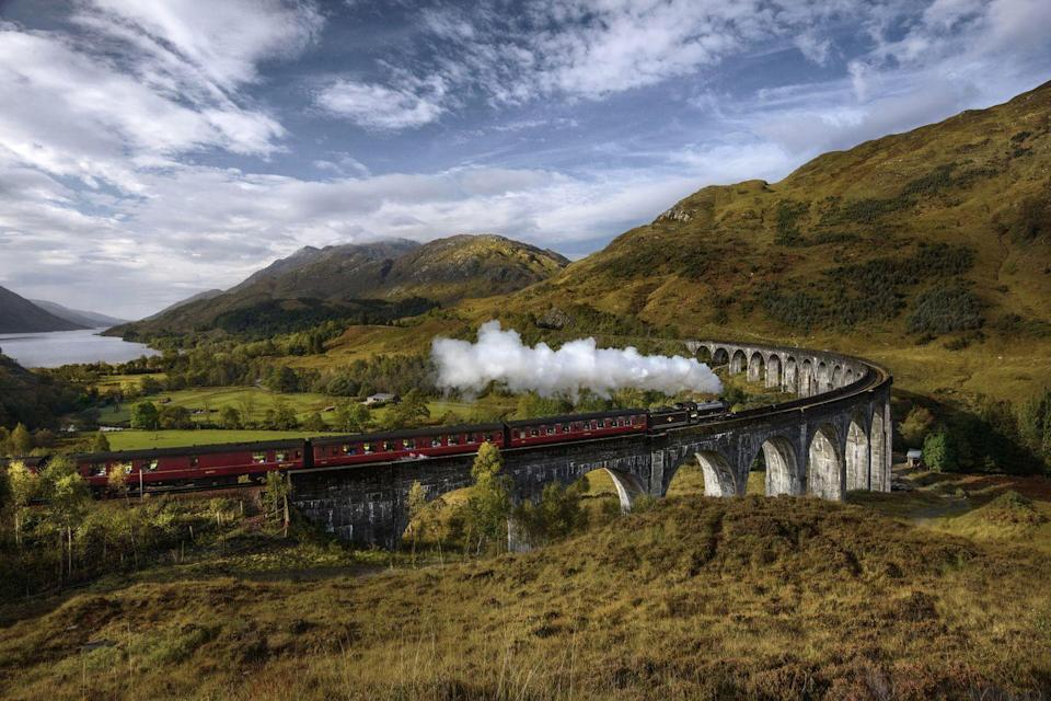 """<p>Have you ever taken the steam train through the Glenfinnan Viaduct on the West Highland Line?</p><p><a class=""""link rapid-noclick-resp"""" href=""""https://www.countrylivingholidays.com/tours/scotland-rail-steam-tour-carol-kirkwood"""" rel=""""nofollow noopener"""" target=""""_blank"""" data-ylk=""""slk:EXPERIENCE IT WITH BBC'S CAROL KIRKWOOD"""">EXPERIENCE IT WITH BBC'S CAROL KIRKWOOD </a></p>"""
