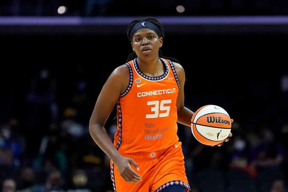 Connecticut Sun forward Jonquel Jones is the unanimous choice for AP Player of the Year honors.