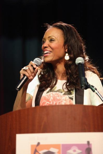 Actress Aisha Tyler speaks onstage at The Interactive Awards Pre-Party And Ceremony Presented by Bloomfire during the 2013 SXSW Music, Film + Interactive Festival at Hilton Austin on March 12, 2013 in Austin, Texas.