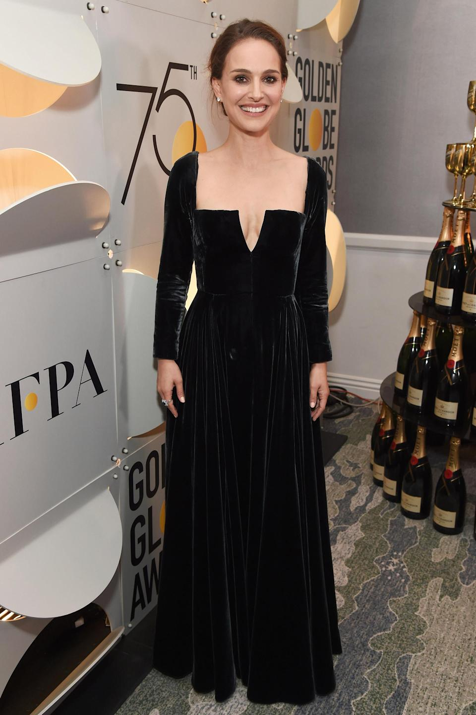 <p>It all resulted in a striking black, velvet gown that was absolutely perfect for the powerful occasion.</p>