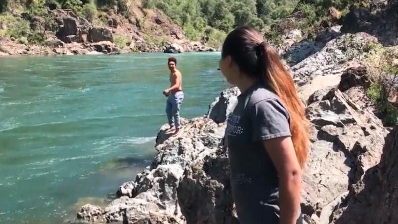 Raymond Cabalfin Jr was laughing with his friends before he jumped into the river. Source: Vimeo