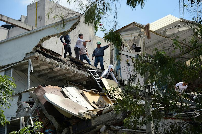 A powerful earthquake shook Mexico City on Tuesday, causing panic among the megalopolis' 20 million inhabitants on the 32nd anniversary of a devastating 1985 quake.