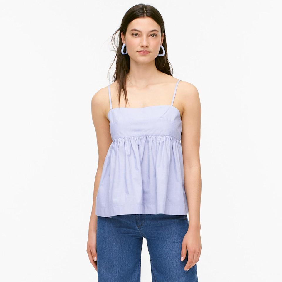 <p>This <span>J.Crew End-on-end Cotton Camisole Top</span> ($70) is classic and easy to style.</p>