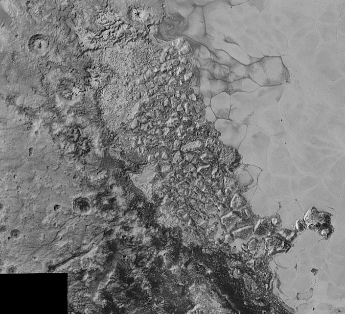 This image courtesy of NASA, Johns Hopkins University Applied Physics Laboratory and Southwest Research Institute shows the surface of Pluto (AFP Photo/)