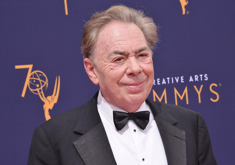 Andrew Lloyd Webber arrives at the 2018 Creative Arts Emmy Awards - Day 2 held at the Microsoft Theater in Los Angeles, CA on Sunday, September 9, 2018. (Photo By Sthanlee B. Mirador/Sipa USA)