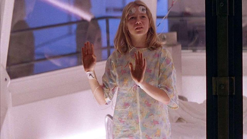 <p>15-year-old Michelle played the young version of Sil (Natasha Henstridge), the alien-human monster.</p>