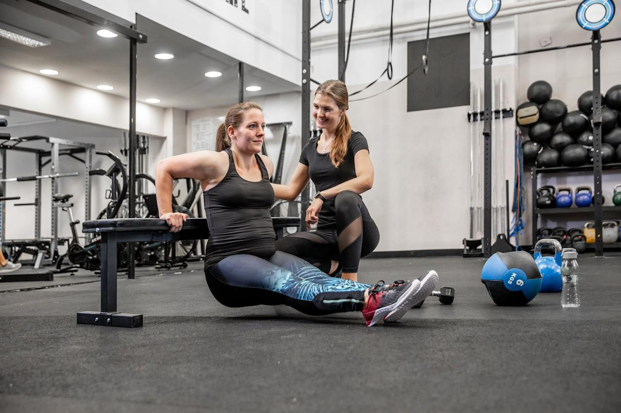 """<p>If you can afford it, Dr. Carter suggested going to a certified personal trainer consistently for a few months. That way, you <a href=""""https://www.popsugar.com/fitness/Personal-Trainer-Explains-Benefits-Personal-Trainer-46212953"""" class=""""ga-track"""" data-ga-category=""""Related"""" data-ga-label=""""http://www.popsugar.com/fitness/Personal-Trainer-Explains-Benefits-Personal-Trainer-46212953"""" data-ga-action=""""In-Line Links"""">can get structure and insight into proper form</a>, and you'll be able to take that with you back to your own home workouts. This is especially something she recommended for people new to fitness. """"They can keep you up to date on newest techniques and thinking about how to approach physical fitness and putting together a personalized program,"""" she said. Then, once you've got a good foundation, you can go less frequently for check-ins to make sure you're not acquiring any bad habits or improper form. Trusted organizations for certifications are, for example, <a href=""""https://www.popsugar.com/fitness/How-Choose-Online-Fitness-Plan-45785490"""" class=""""ga-track"""" data-ga-category=""""Related"""" data-ga-label=""""http://www.popsugar.com/fitness/How-Choose-Online-Fitness-Plan-45785490"""" data-ga-action=""""In-Line Links"""">NASM, ACE, ISSA, and ACSM</a>.</p>"""