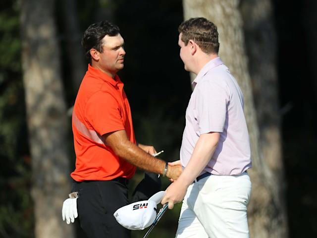 Patrick Reed and Robert MacIntyre embrace after round two in Turkey: Getty