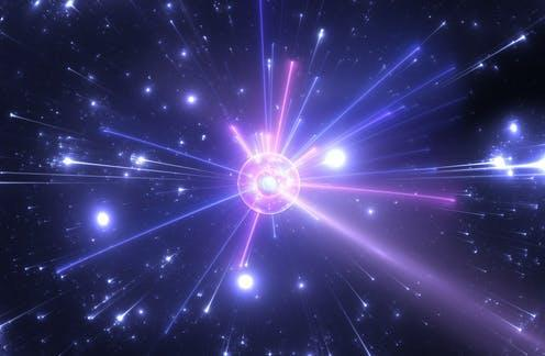"""<span class=""""caption"""">Cern has measure a tiny mass difference by colliding huge amounts of particles.</span> <span class=""""attribution""""><a class=""""link rapid-noclick-resp"""" href=""""https://www.shutterstock.com/image-illustration/fragmentation-highenergy-collisions-between-atomic-subatomic-1443036710"""" rel=""""nofollow noopener"""" target=""""_blank"""" data-ylk=""""slk:Jurik Peter/Shutterstock"""">Jurik Peter/Shutterstock</a></span>"""