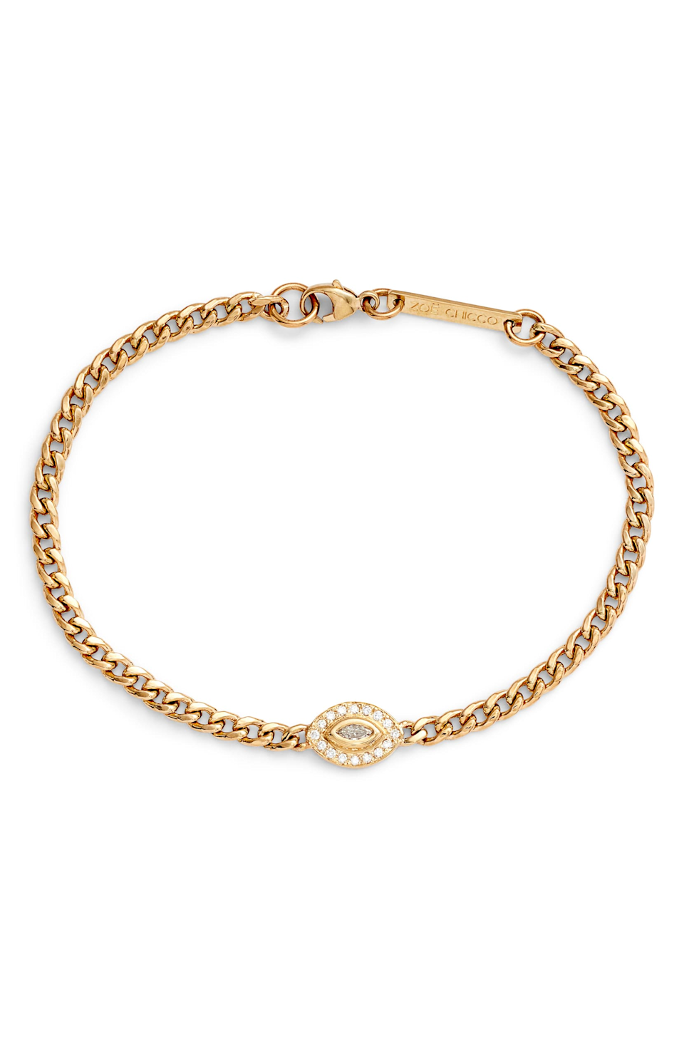 "<br> <br> <strong>Zoë Chicco</strong> Halo Chain Chain Bracelet, $, available at <a href=""https://go.skimresources.com/?id=30283X879131&url=https%3A%2F%2Fshop.nordstrom.com%2Fs%2Fzoe-chicco-paris-diamond-halo-chain-chain-bracelet%2F5433211%3Forigin%3Dkeywordsearch-personalizedsort%26breadcrumb%3DHome%252FAll%2520Results%26color%3Dyellow%2520gold"" rel=""nofollow noopener"" target=""_blank"" data-ylk=""slk:Nordstrom"" class=""link rapid-noclick-resp"">Nordstrom</a>"