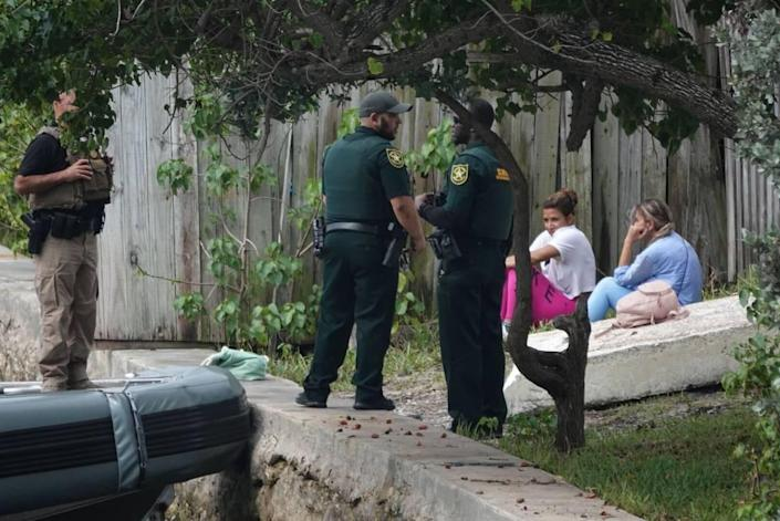 About a dozen people came ashore in Pompano Beach along Southeast 28th Avenue and Atlantic Boulevard on the Intracoastal on June 17, 2021, the Broward Sheriff's Office said. The people were detained.