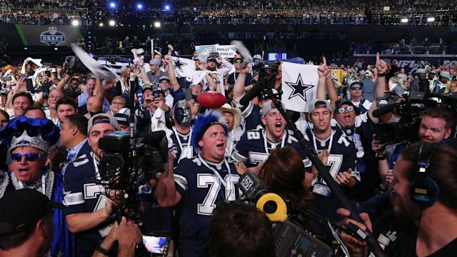 The draft was held at the Cowboys' AT&T Stadium last month, marking the first time that the event took place at an NFL stadium.