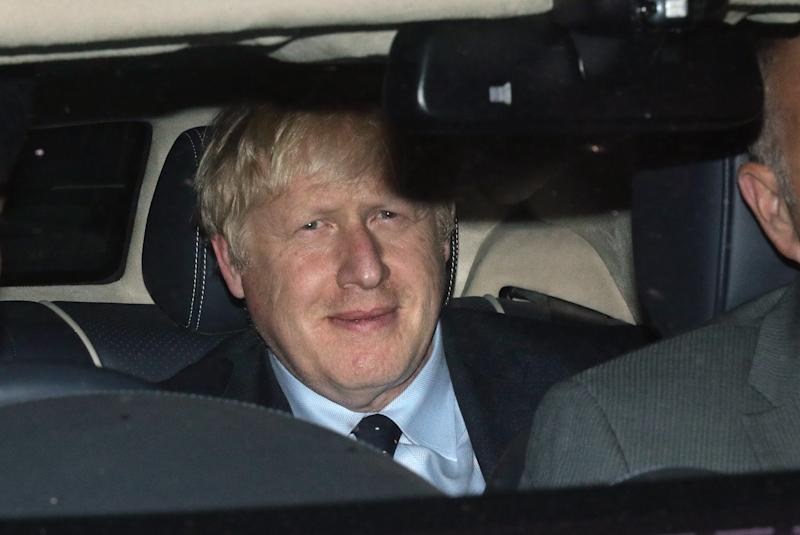 Boris Johnson leaves the House of Commons after MPs voted in favour of allowing a cross-party alliance to take control of the Commons agenda. (PA)
