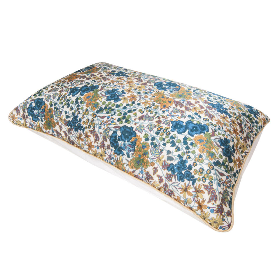 "<p>Fed up of waking with pillow creases adorning your face? You need this pillowcase in your life. Hypoallergenic and make from 100 per cent silk, it's super smooth and friction free, meaning that the damage to your skin cells is significantly decreased while you sleep. </p><p><a href=""http://www.holisticsilk.com/anti-ageing-silk-pillow-case"" rel=""nofollow noopener"" target=""_blank"" data-ylk=""slk:Buy here."" class=""link rapid-noclick-resp"">Buy here. </a></p>"