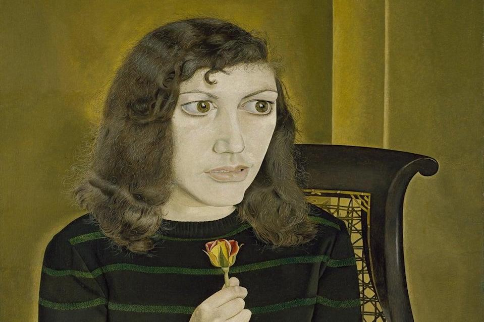 Fresh take: Girl With Roses will be among the works on display (© The Lucian Freud Archive/Bridgeman Images.)