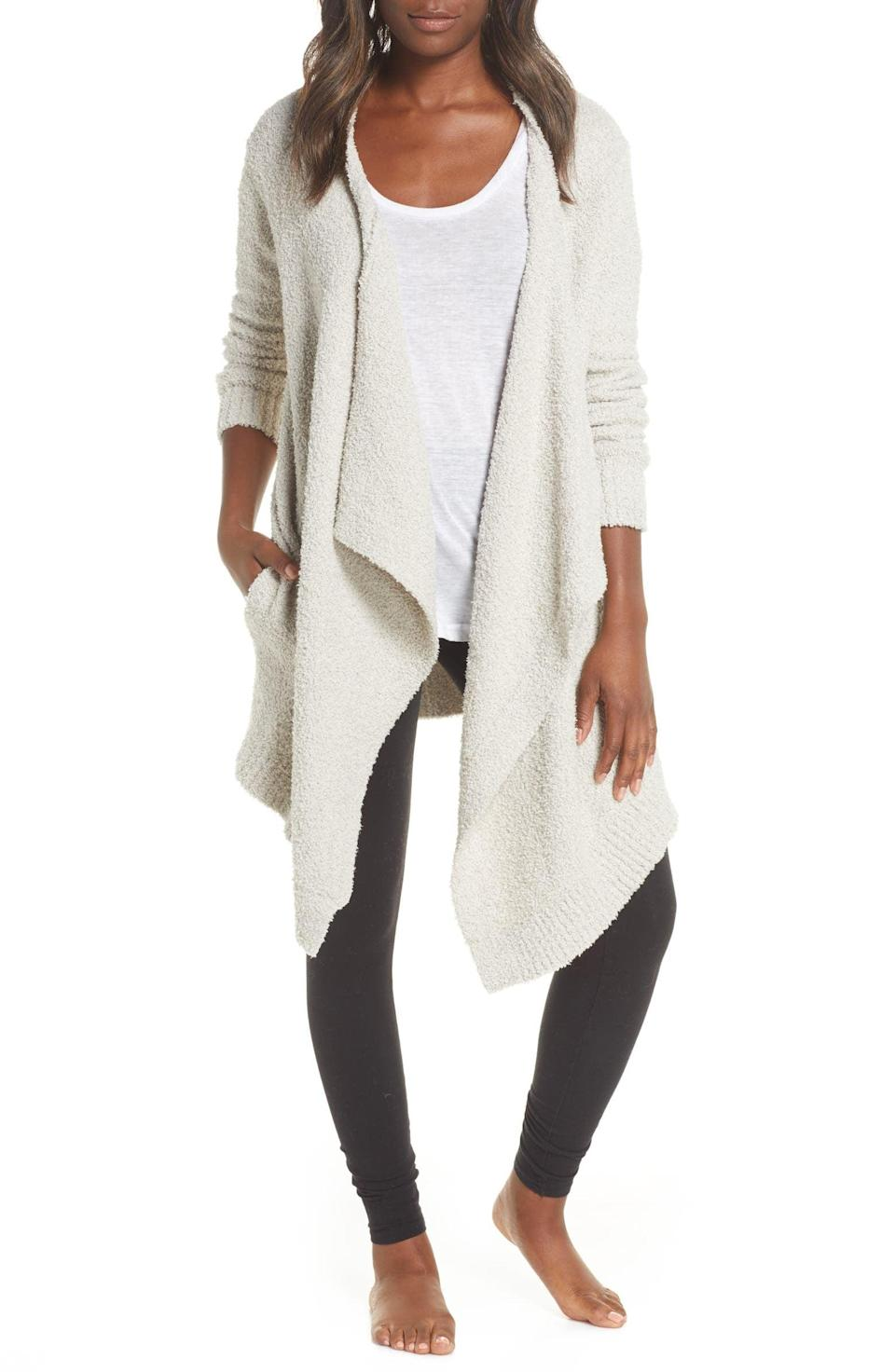 <p>From brisk mornings to evening chills, the <span>Ugg Phoebe Wrap Cardigan</span> ($118) will be something they use all the time to stay warm. They can layer this on top of any outfit for a cozy and comfy vibe. It comes in a variety of prints and colors including, indigo, snow leopard, grey, and cream.</p>