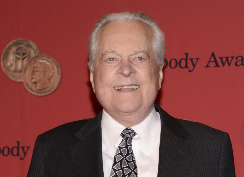FILE - In this May 19, 2014 file photo, Robert Osborne attends the 73rd Annual George Foster Peabody Awards in New York.  Turner Classic Movies will continue memorializing Robert Osborne at the TCM Classic Film Festival in Los Angeles next month. Festival organizers announced Friday that the eighth annual film festival will be dedicated to the channel's longtime host, who died on March 6 at age 84.  (Photo by Evan Agostini/Invision/AP, File)